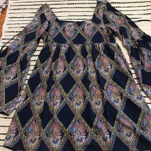 Patterned Boho Tobi Dress